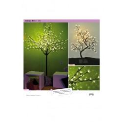 arbre lumineux 2.50m led blanc a poser sakura tree 24v